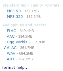 Bandcamp-format