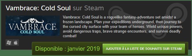 A venir: Vambrace: Cold Soul 3